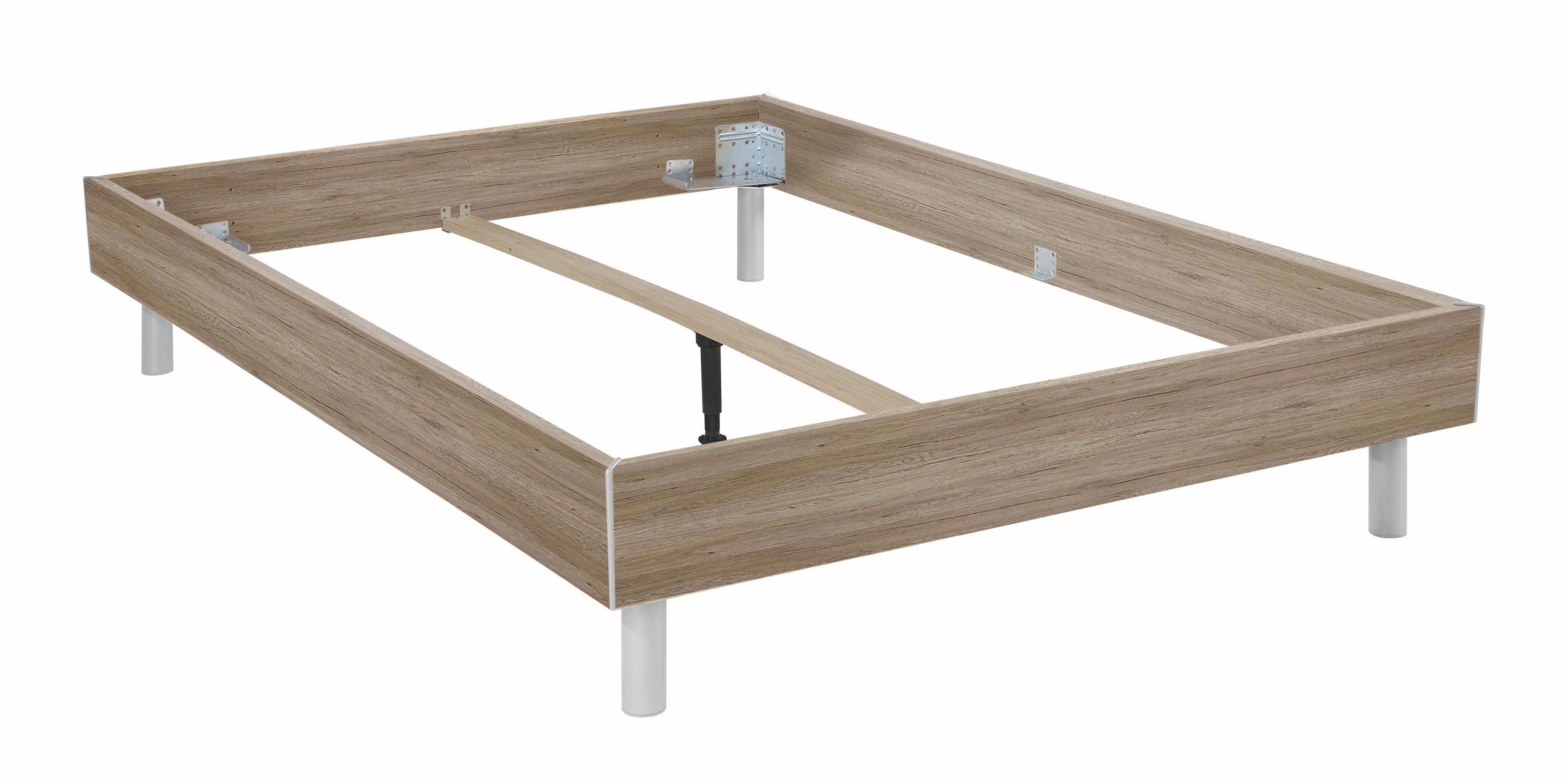 Futonová Postel Belia - barvy dubu, Konvenční, dřevo (180/200cm)