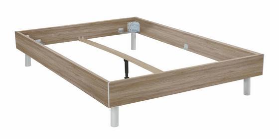 Futonová Postel Belia - barvy dubu, Konvenční, dřevo (140/200cm)