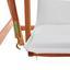 Hojdačka Acacia - biela/farby akácie, Moderný, drevo/textil (196/174/124cm) - Modern Living