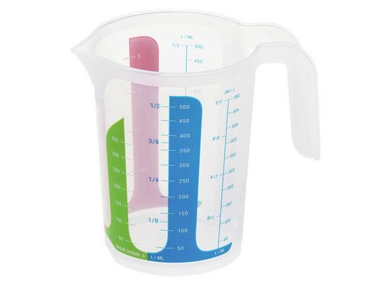 Messbecher 0,5 Liter - Blau/Klar, KONVENTIONELL, Kunststoff (14/12,4cm)