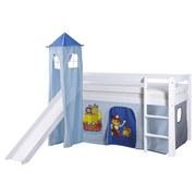 Spielbett Kasper 90x200 cm Blau/Weiß - Blau/Weiß, Natur, Holz (90/200cm) - MID.YOU
