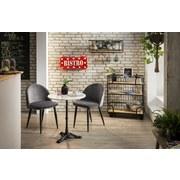 Stuhl-Set 02446-21 B: 49 cm Dunkelgrau - Dunkelgrau/Schwarz, Basics, Textil/Metall (49/79/52cm)
