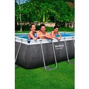 Power Steel Pool Set Geflechtoptik, 404x201x100 cm - Blau/Weiß, MODERN, Kunststoff/Metall (404/201/100cm) - Bestway