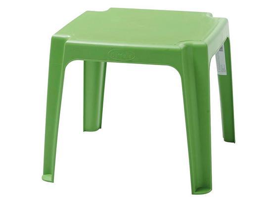 Kinder-Gartentisch Grün Kunststoff, L: 49 cm - Grün, KONVENTIONELL, Kunststoff (49/41/49cm) - Ombra