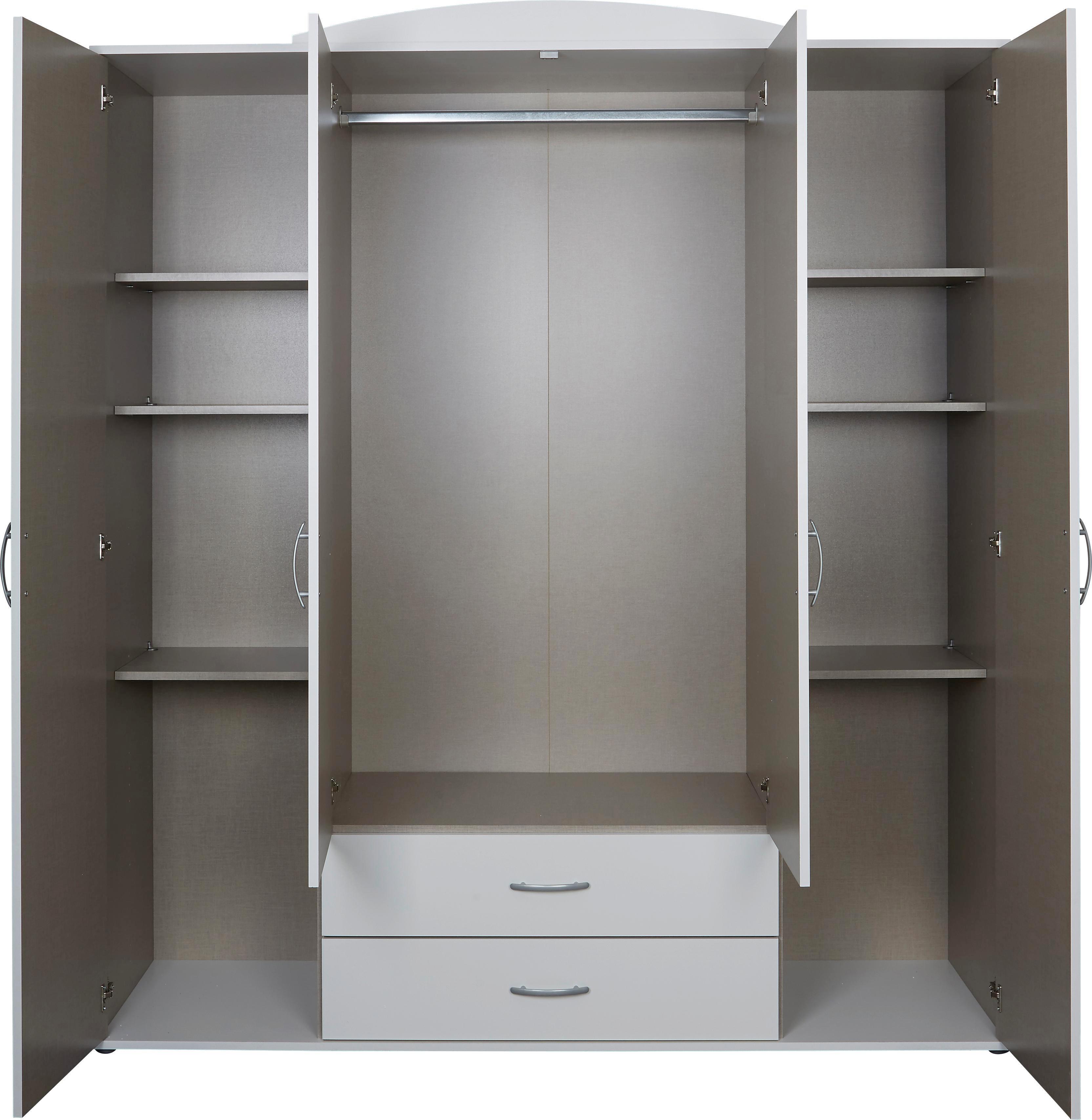 Ruhásszekrény Touch 4 - fehér, romantikus/Landhaus, faanyagok (168/196/52cm)