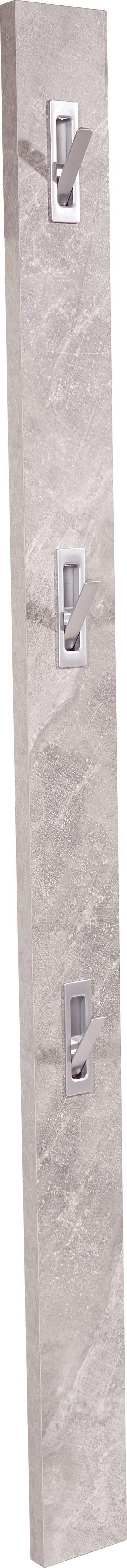 Előszoba Akasztórúd Enzo - Szürke, modern, Faalapú anyag (12/175/2,8cm)