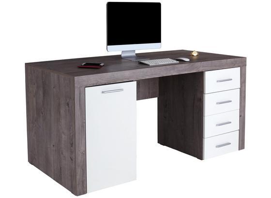 Písací Stôl Cubus - farby dubu, Moderný, kompozitné drevo (160/75/70cm)