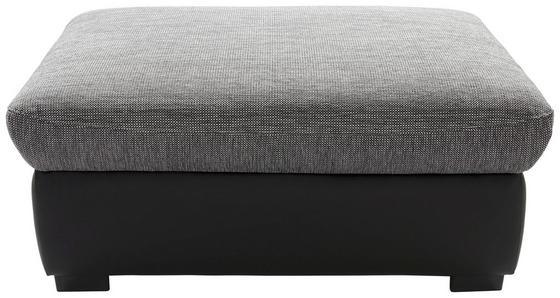 Taburet Chance - čierna/sivá, Moderný, textil (101/73cm)