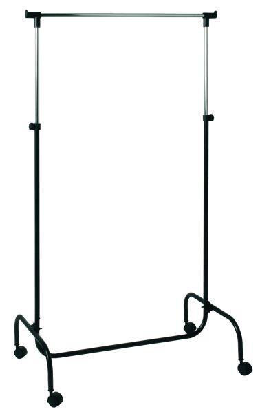 Ruhaállvány Charly - Króm/Fekete, modern, Műanyag/Fém (80/110-170/45cm)