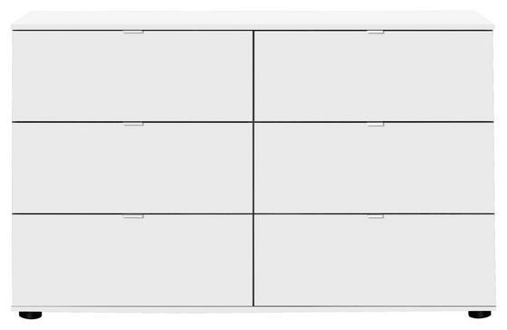Kommode Advantage 130 cm Weiß - Weiß, MODERN, Holzwerkstoff (130/83/41cm)