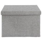 Skladací Box Cindy - sivá, Moderný, plast/papier (38/26/24cm) - Mömax modern living