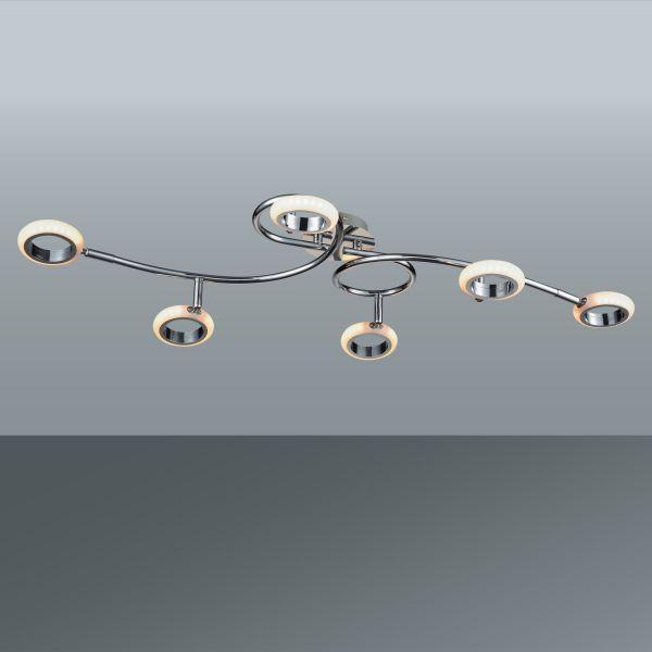 Led Stropná Lampa Tino - Moderný, umelá hmota/kov (90/22cm) - MÖMAX modern living