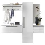 Garderobe New Vision - Weiß, Design, Holzwerkstoff (208/197/35cm) - Livetastic