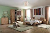 Spálňa Anna 180 - farby dubu, Konvenčný, kompozitné drevo - Modern Living