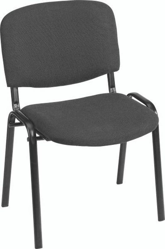 Vendég Szék Dina - fekete, műanyag/textil (55/83/53,5cm)
