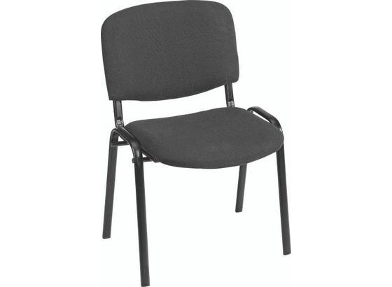 Židle Dina - černá, kov/textilie (55/83/53,5cm)