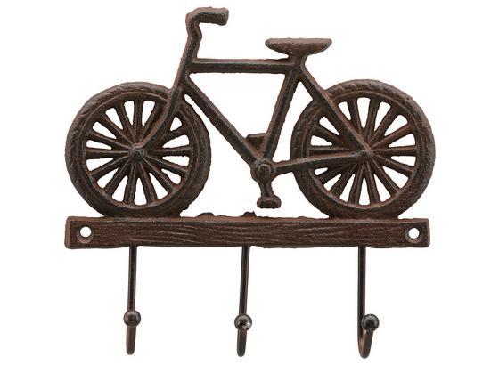Lišta S Háčky Bike -sb- - hnědá, kov (20/20/3cm) - Modern Living