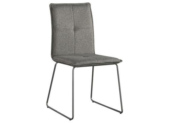 Stuhl Bravo Grau - Grau, MODERN, Textil/Metall (50/96/56cm) - Luca Bessoni