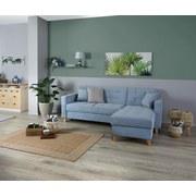 Wohnlandschaft In L-Form Bergen 160x231 cm - Naturfarben/Hellblau, MODERN, Textil (160/231cm)