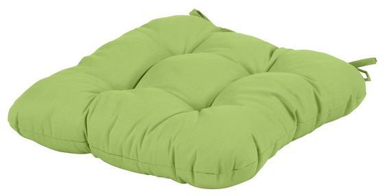 Ülőpárna Elli - zöld, konvencionális, textil (40/40/6cm) - OMBRA