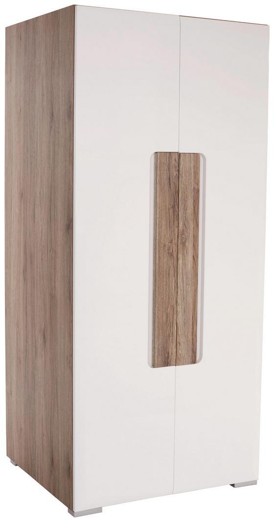 Skříň Toronto - bílá/barvy dubu, Lifestyle, dřevěný materiál (90,7/185/58,2cm)