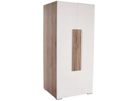 Skříň Toronto - bílá/barvy dubu, Lifestyle, kompozitní dřevo (90,7/185/58,2cm) - Ombra