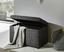 Truhenbank Relax 65cm Anthrazit - Anthrazit, KONVENTIONELL, Holzwerkstoff/Textil (65 42 40cm)
