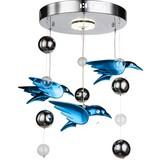LED-Deckenleuchte Vogel Blau - Blau, MODERN, Kunststoff/Metall (42/60cm)