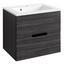 Waschtischunterschrank Belluno B:60 cm Lärche Dekor - Lärchefarben/Graphitfarben, Basics, Holzwerkstoff/Stein (60/54/48cm)