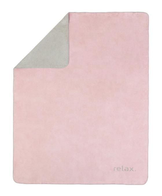 Deka Relax - růžová/světle šedá, Konvenční, textil (150/200cm) - PREMIUM LIVING