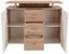 Komoda Leon Pl03 - bílá/barvy dubu, Moderní, dřevěný materiál (120/92,3/40cm)
