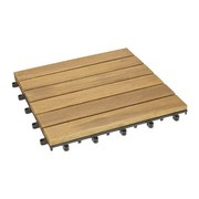 Terrassenfliese Rudi 30x30 cm Akazienholz - Akaziefarben, MODERN, Holz/Kunststoff (30/30cm) - Ombra