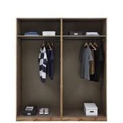 Kleiderschrank Offen 182,2cm Unit, Anthrazit - Anthrazit, MODERN, Holzwerkstoff (182,2/210/56,5cm) - Ombra