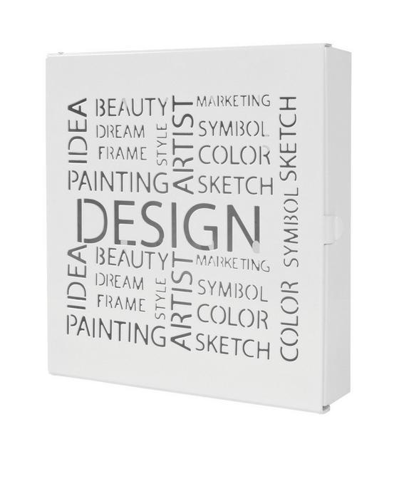 Box Na Kľúče Design Biela - biela, Moderný, kov (22/24/5cm)