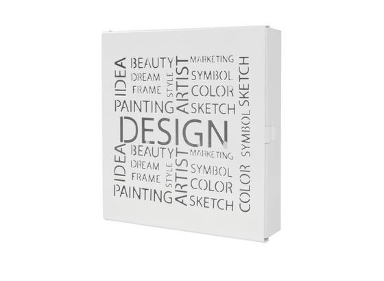 Schránka Na Klíče Design Biela - bílá, kov (22/24/5cm)