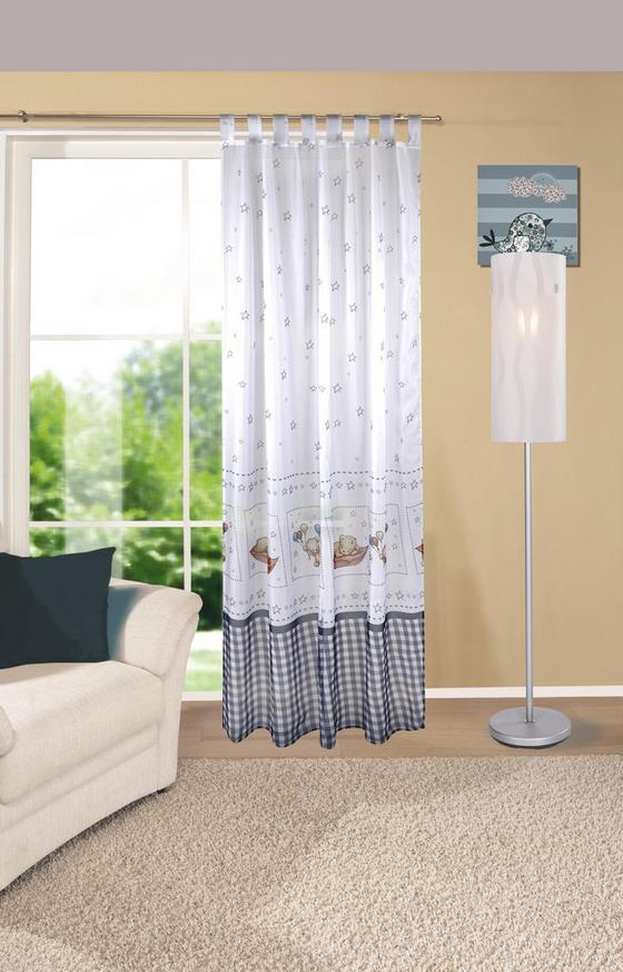Kombivorhang Lea - Blau/Braun, KONVENTIONELL, Textil (140/245cm)
