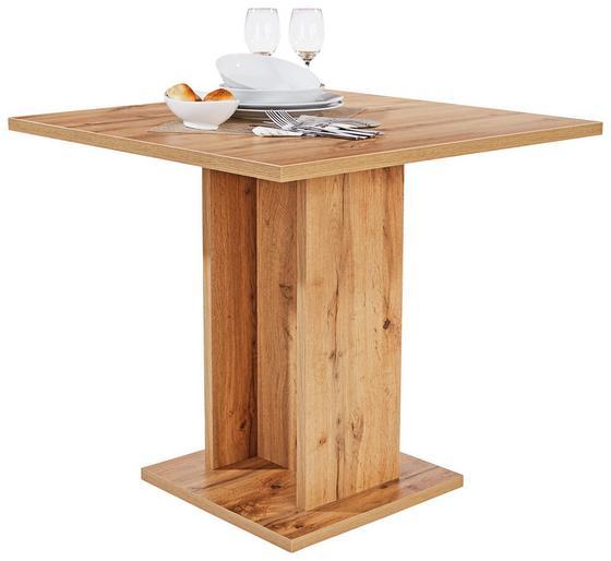 Jídelní Stůl Sigmund 80 - bílá/barvy dubu, Konvenční, dřevěný materiál (79,5/74/79,5cm)