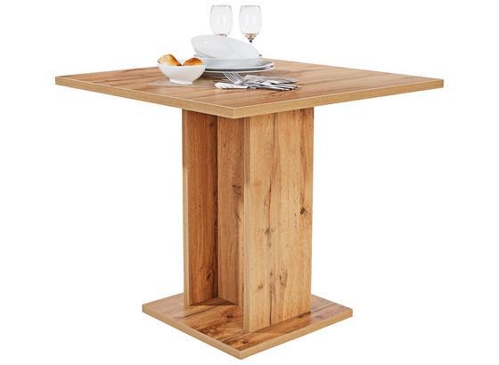 Jídelní Stůl Sigmund 80 - bílá/barvy dubu, Konvenční, kompozitní dřevo (79,5/74/79,5cm)