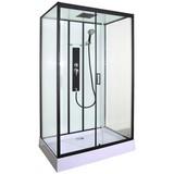 Duschkabine Komplettdusche Sky 3 - Schwarz, MODERN, Glas (120/80/225cm) - Sanotechnik