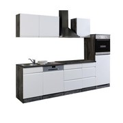 Küchenblock Cardiff B: 280cm Weiß/Vintage - Eichefarben/Weiß, Basics, Holzwerkstoff (280/200/60cm)