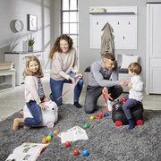 Kindertrolley Daisy B/H/T: ca. 45/34/23cm Belastbar 20kg - Pink/Weiß, MODERN, Kunststoff/Textil (45/34/23cm)