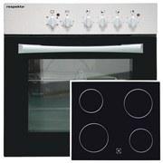Herdset Basic 2-teilig - Silberfarben/Schwarz, Basics, Glas/Metall (59,5/59/51,5cm) - MID.YOU