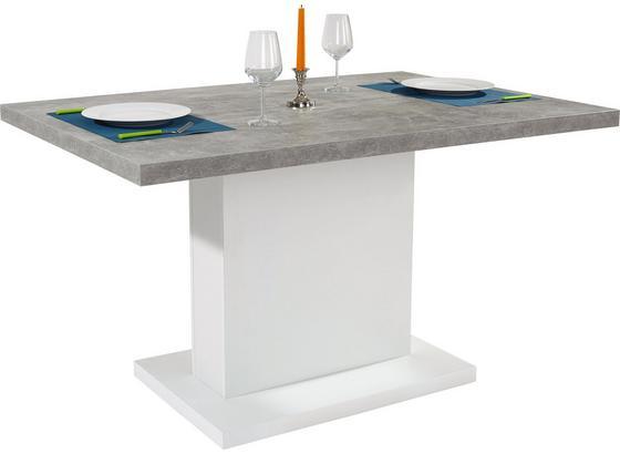 Jídelní Stůl Madrid 138 Cm - bílá/šedá, Moderní, kompozitní dřevo (138/77/90cm)