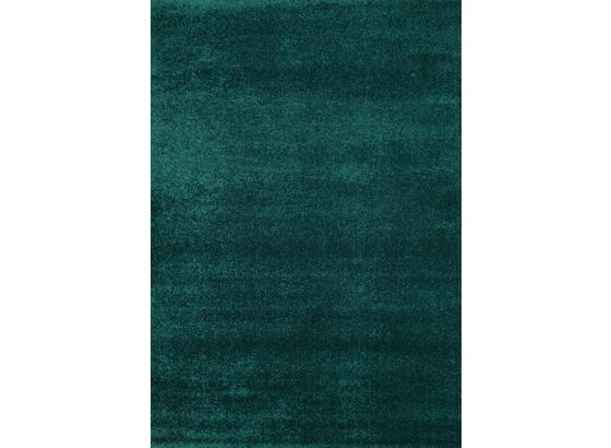 Hochflorteppich Roma 140x200 - Petrol, MODERN, Textil (140/200cm)