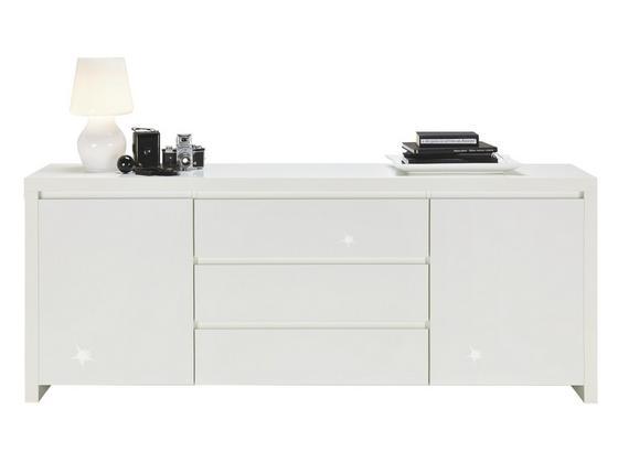 Komoda Sideboard Lario - biela, Moderný, kompozitné drevo (190/75/40cm)
