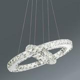 Led Závesná Lampa Forli -eö- - chrómová, Moderný, umelá hmota/kov (40/150cm) - Mömax modern living
