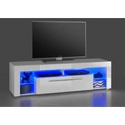 TV-Lowboard Goal B: 153 cm Weiß - Weiß, Design, Glas/Holzwerkstoff (153/44/44cm) - Carryhome
