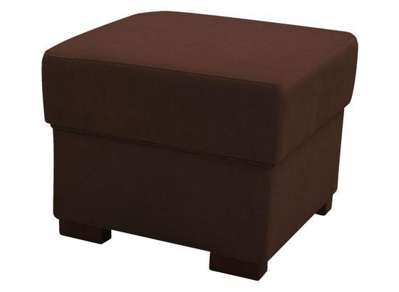 Taburet Chandler - hnedá/antracitová, Moderný, textil (51/43/51cm) - Ombra