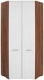 Rohová Skriňa Avensis New - farby dubu/biela, Konvenčný, kompozitné drevo (86,5/205,7/86,5cm) - Luca Bessoni