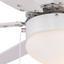 Deckenventilator Rivaldo D: 78 cm Weiß - Weiß, Basics, Glas/Holz (78/35cm)